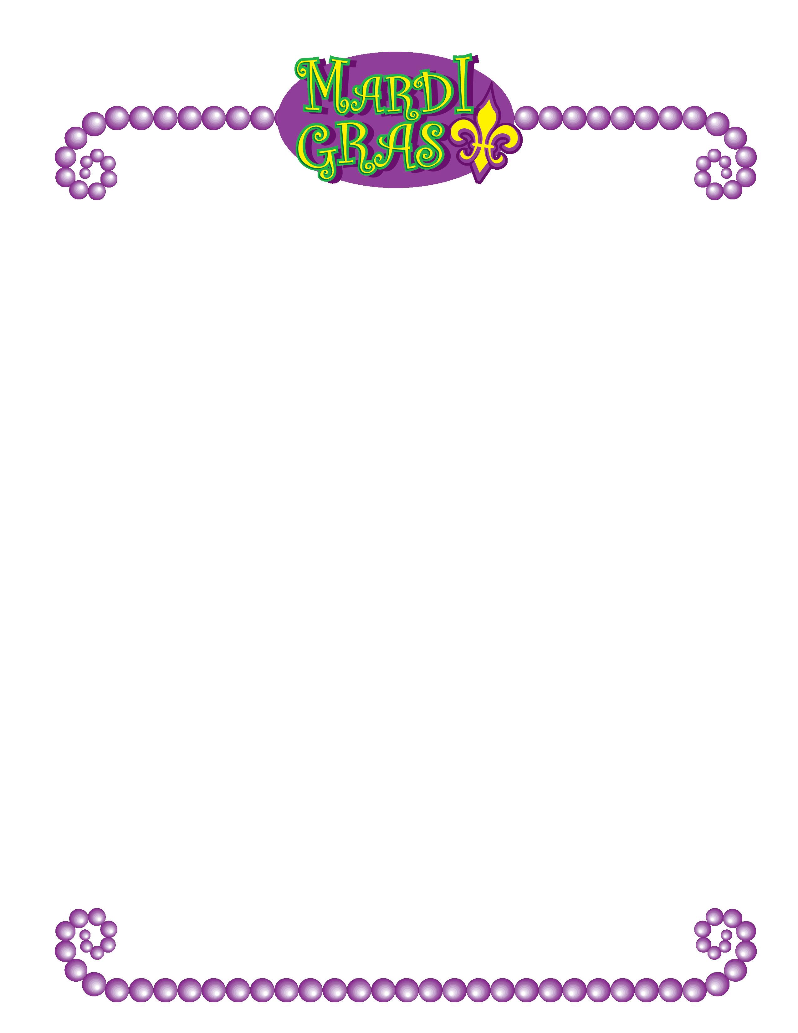 Mardi Gras Stationary