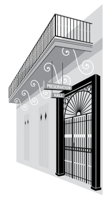 Preservation Hall New Orleans Vector Clip Art