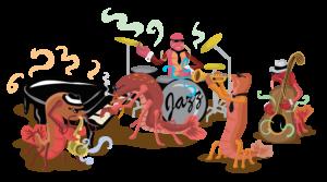 Crawfish Band Free Vector Clip Art