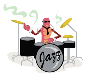 Crawfish Playing Drums Free Vector Clip Art