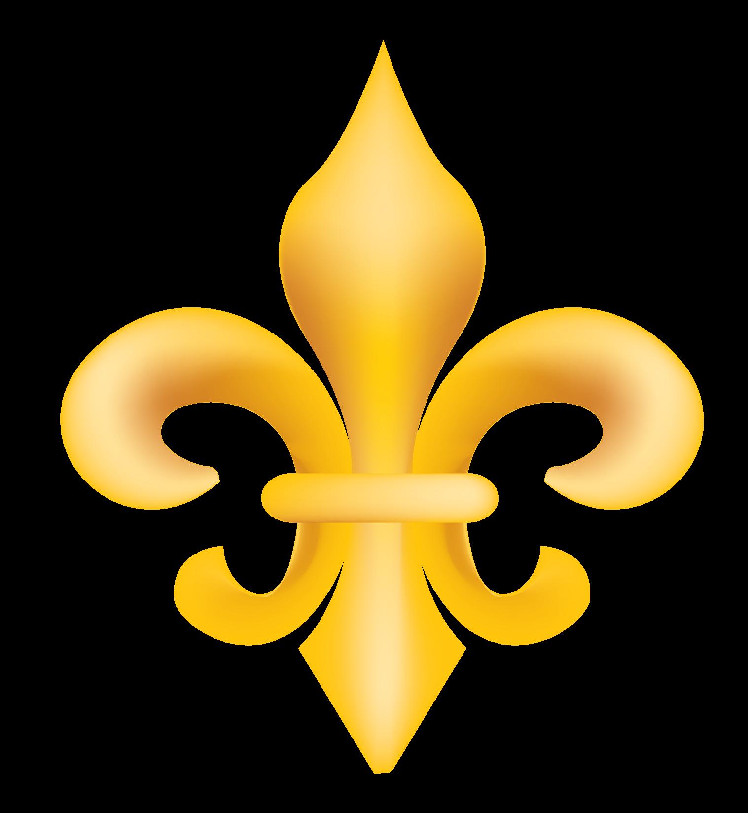Gold Fleur de Lis Vector Clip Art