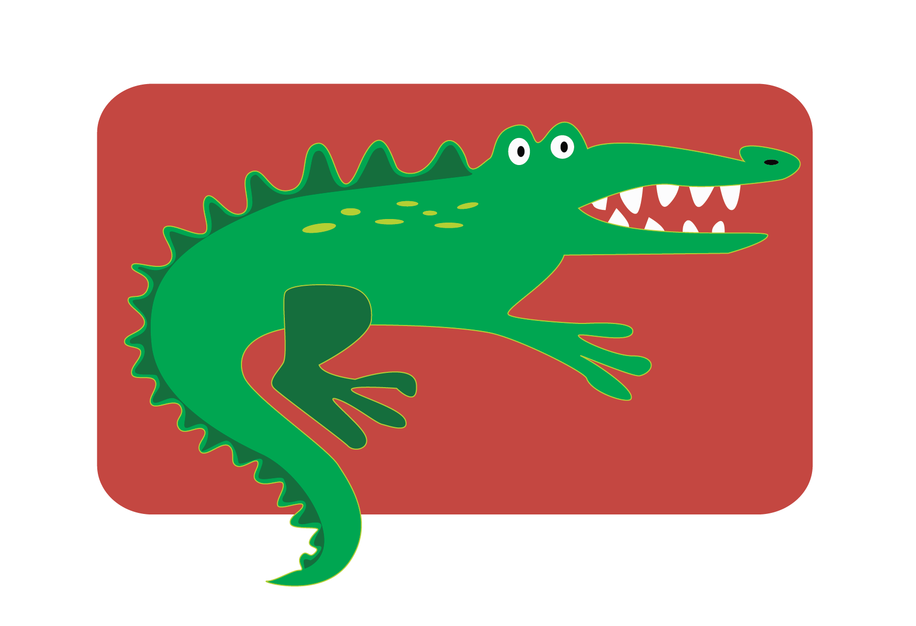 Fun Alligator Vector Clip Art