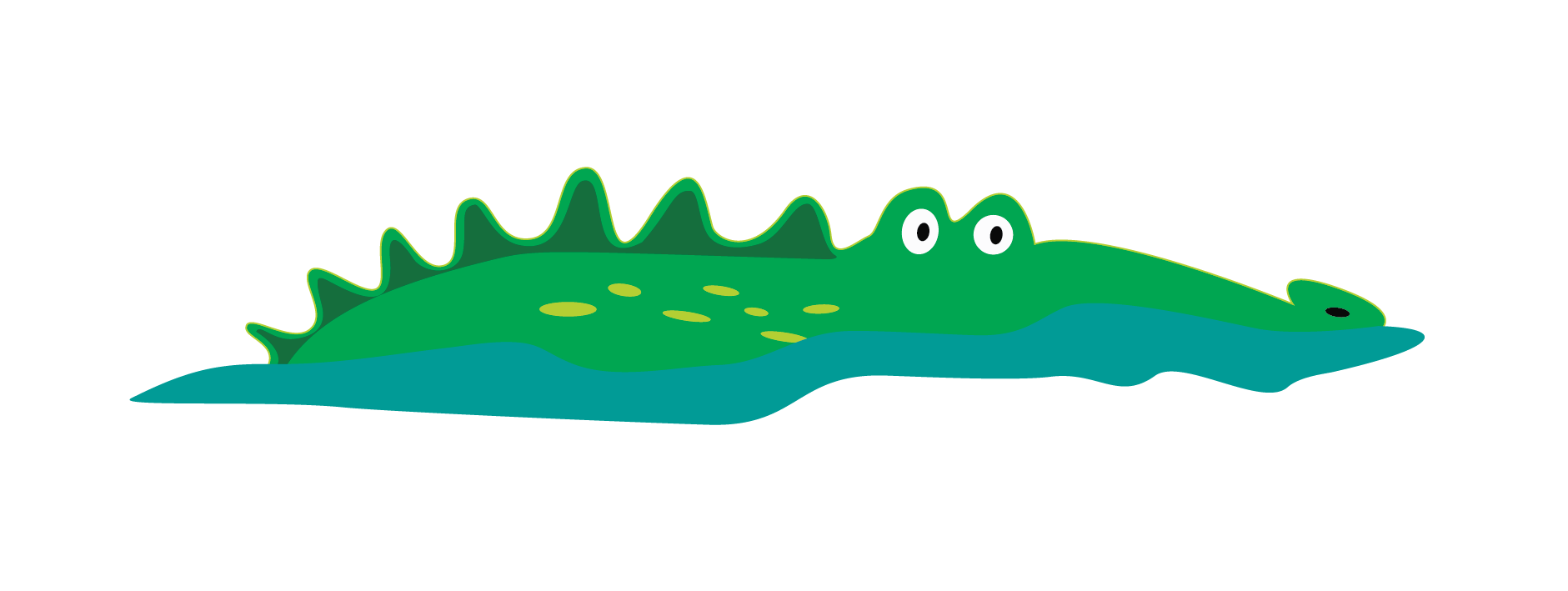 Cute Alligator Vector Clip Art