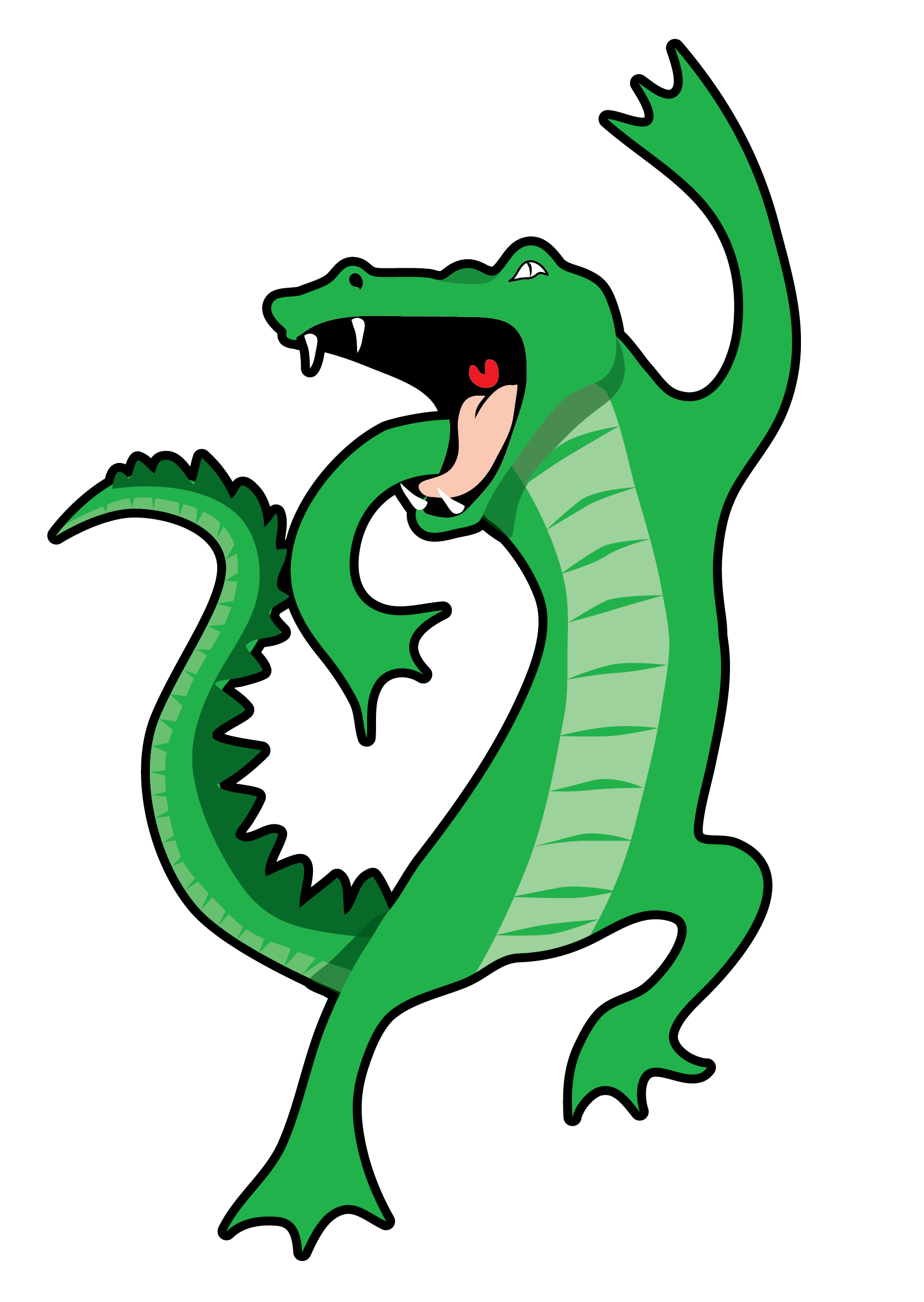 Dancing Alligator Vector Clip Art