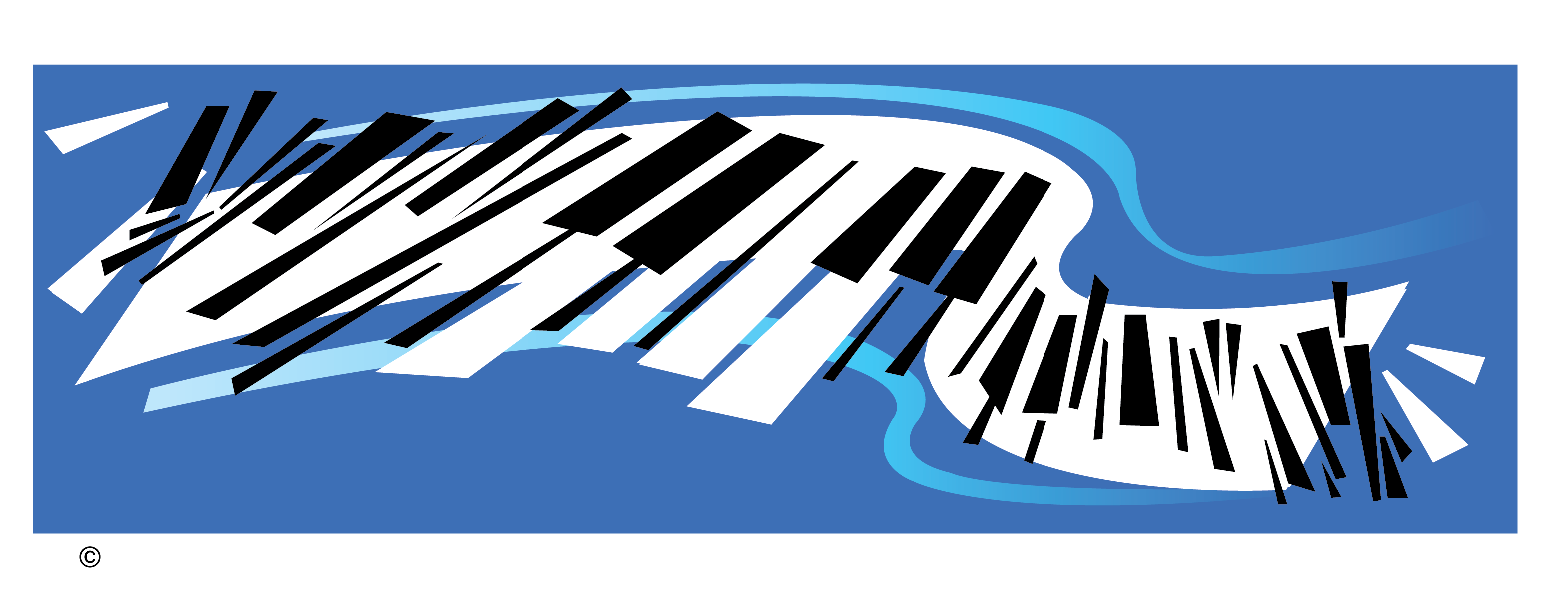 Abstract Piano Vector Clip Art
