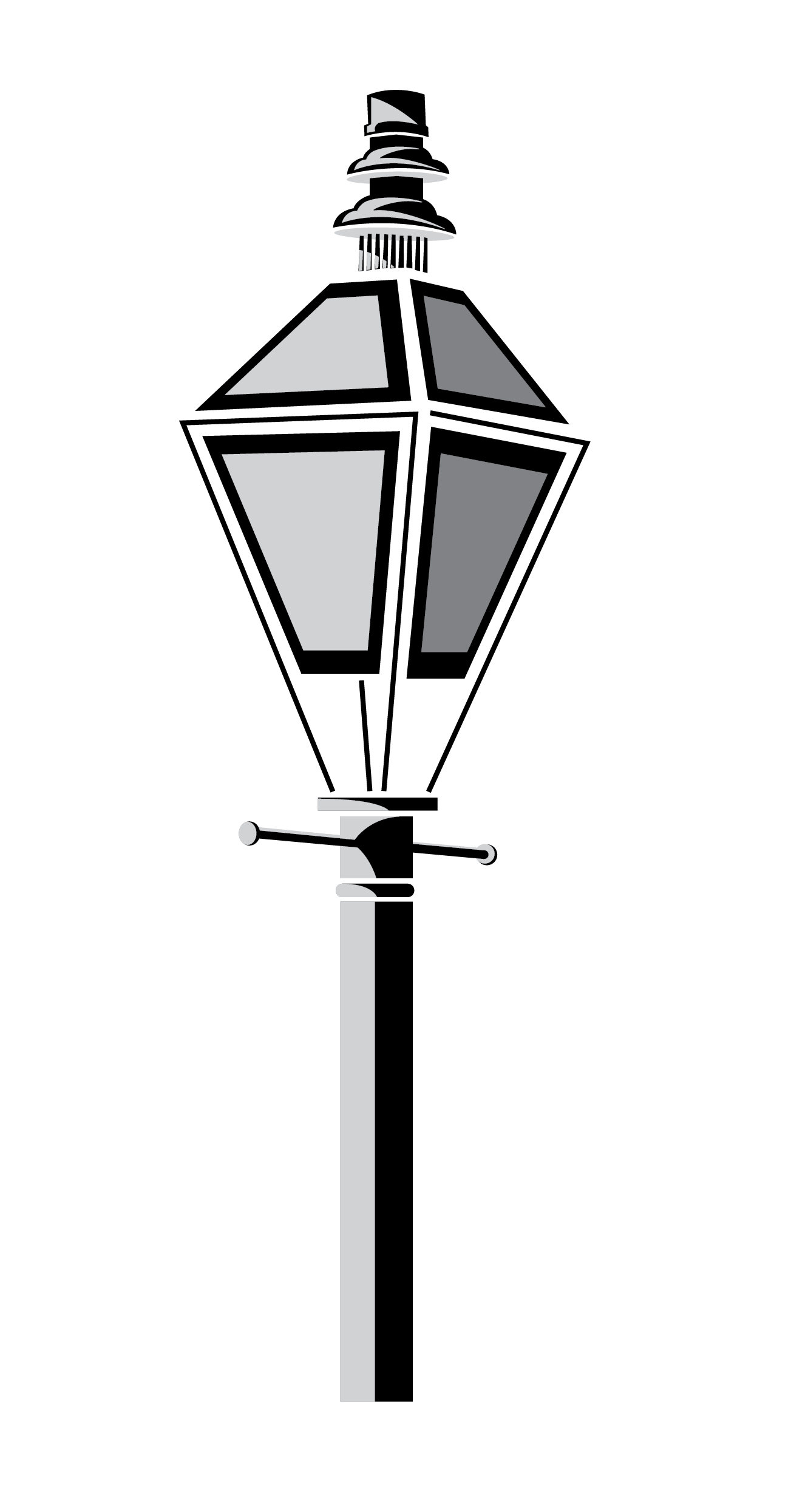 New Orleans Lamp Post Vector Clip Art