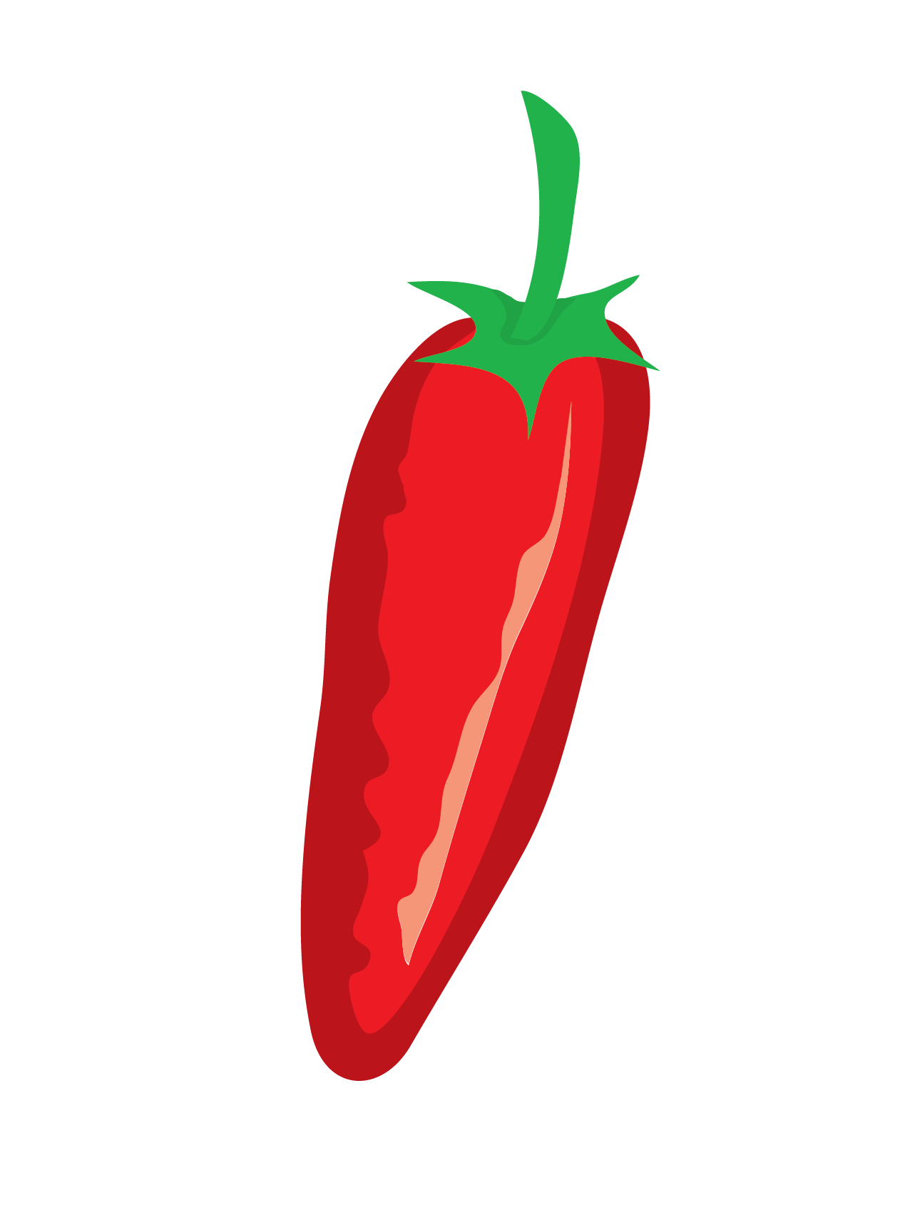 Red Pepper Vector Clip Art