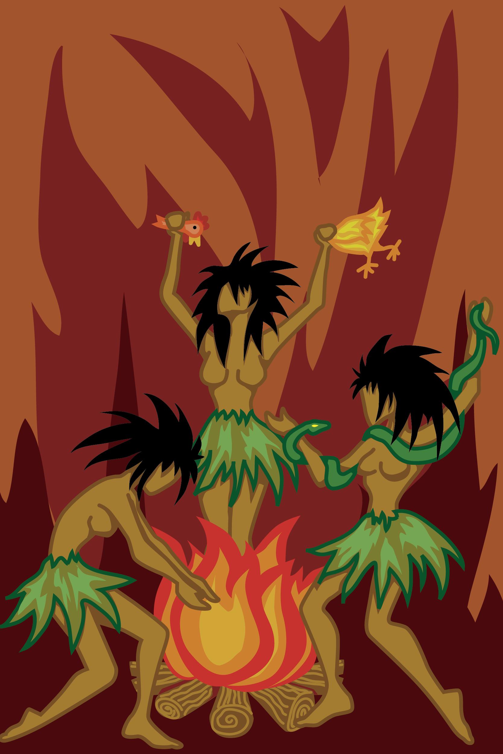 Voodoo Ritual Vector Clip Art